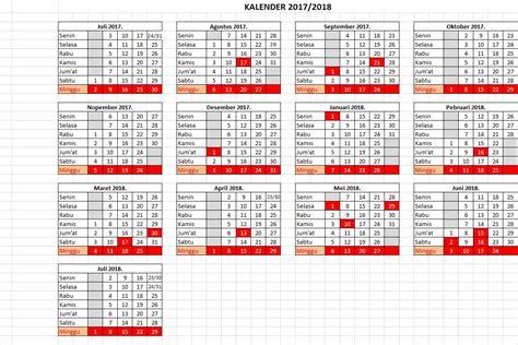 Kalender 2018 Dan Tanggal Merahnya Kalender Pendidikan 2017 2018 Prov Jawa Timur Smk Negeri