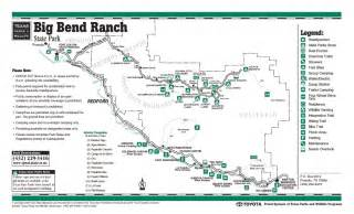 map of big bend big bend ranch state park