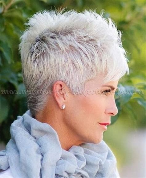 spikey styles for grey hair 2018 latest short haircuts for grey hair