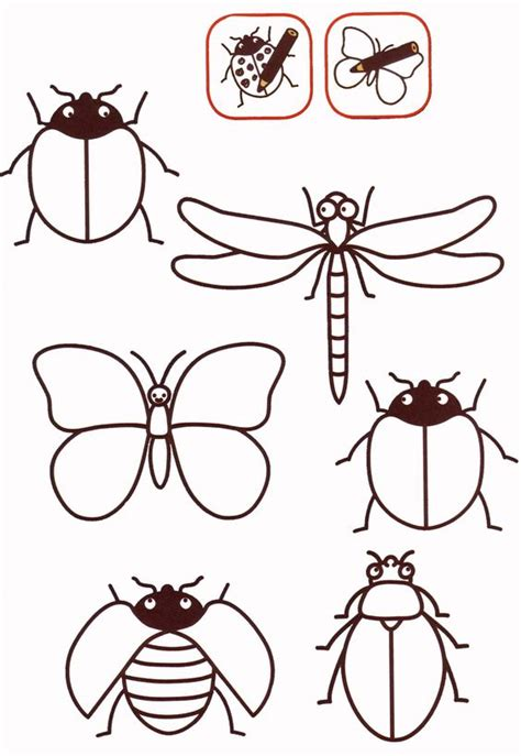 insect templates insectos piedras for the colors and the