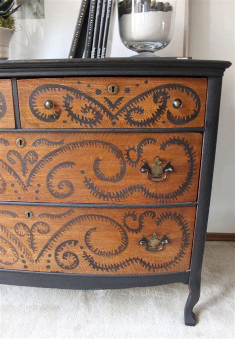 Custom Painted Dresser by Painted A Dresser Makeover Refunk Junk