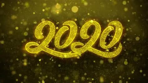 happy  year wishes  card invitation celebration firework looped stock