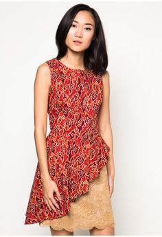 Dress Midi Mini Gaun Brukat Brokat Lace Merah Cantik batik dress kebaya dress pendapa batik brown dress dhievine redefine you kebaya