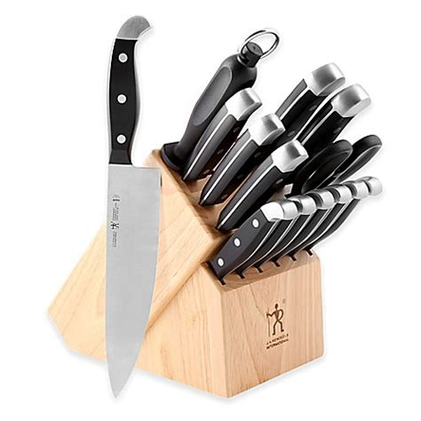 what is a set of kitchen knives j a henckels international 174 statement 15 knife block set bed bath beyond