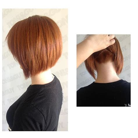 ladies haircut weight line image result for undercut a line bob hair pinterest