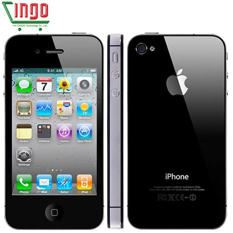 Hp Iphone 4 S 32gb unlocked iphone 4s mobile phone 16gb 32gb 64gb rom dual wcdma wifi gps 8mp cell