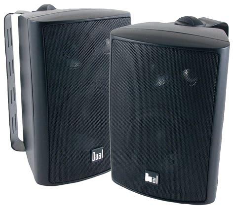 Speaker Indoor by Dual 4 Quot 3 Way Indoor Outdoor Loudspeakers Pair Black