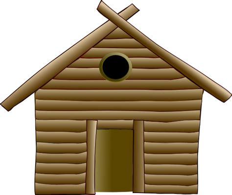 Log Cabin Homes by Wood Hut Clip Art At Clker Com Vector Clip Art Online