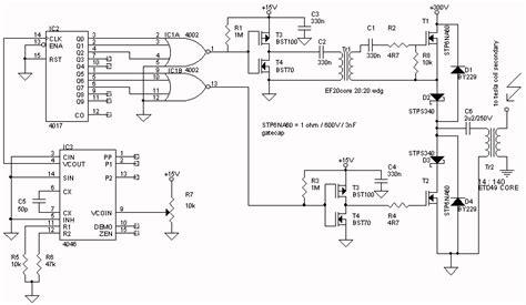 Musical Tesla Coil Plans Half Bridge Tesla Coil Schematic Get Free Image About