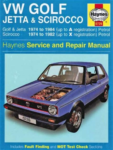 vehicle repair manual 1984 volkswagen scirocco on board diagnostic system vw volkswagen golf mk i jetta scirocco 1974 1984 uk sagin workshop car manuals repair books