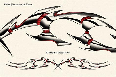 biomechanical tribal tattoos tribal biomechanical by noskill1343 on deviantart