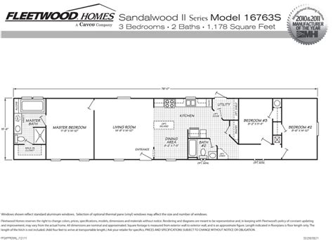 1998 fleetwood mobile home floor plans mobile home floor plans also 4 bedroom single wide g
