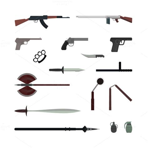 Weapon Graphics 5 stock graphic weapons flat vector collection 187 logotire