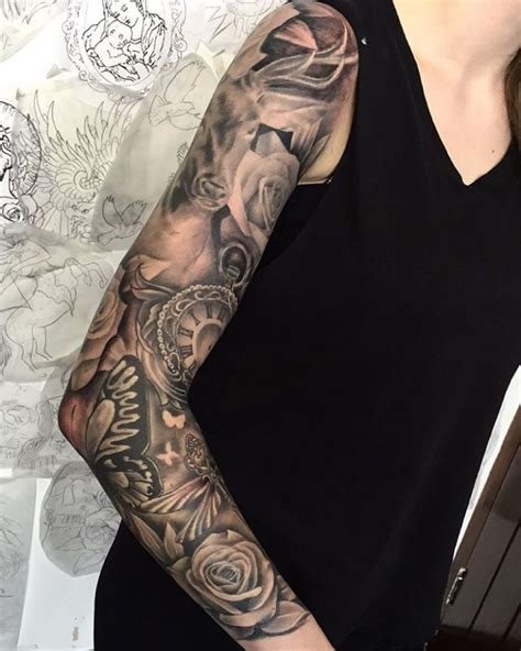 feminine tattoo sleeves 20 sleeve designs ideas for design trends