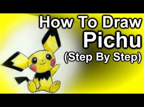 how to make doodle names step by step how to draw pichu step by step