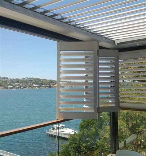 Balcony Shade Privacy Screens by Vollay Aluminium Shutters And Louvres Specifications