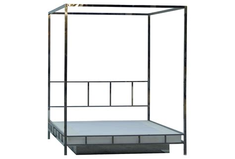 chrome canopy bed pace chrome queen canopy bed w platform modernism