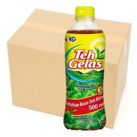Teh Gelas 500ml teh gelas 500ml pet botol x 12