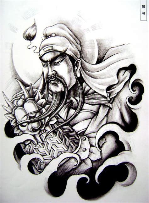 关公纹身手稿 莆田刺青吧 百度贴吧