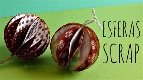 manualidades para navidad esferas scrap esferas de papel