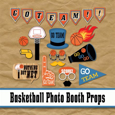 Promo Paket 1 Backdrop Wooden Photobooth basketball photo booth props and decorations printable