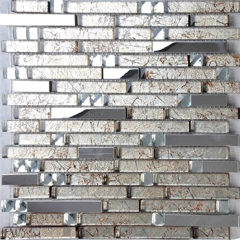 Stainless Steel Tiles For Kitchen Backsplash - stainless steel tile glass mosaic kitchen backsplash tiles