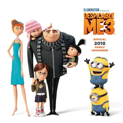 Family Minion 3 despicable me 3 family planner 2018 calendar club uk