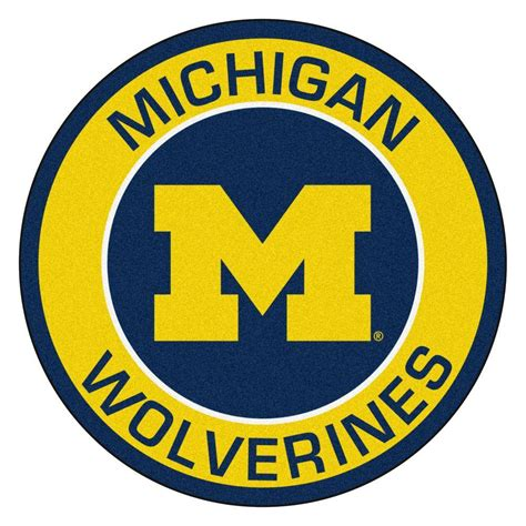 of michigan rug fanmats ncaa of michigan gold 2 ft 3 in x 2 ft 3 in accent rug 18619 the