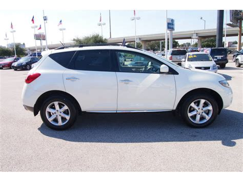 nissan suv white nissan murano 2009 white suv sl gasoline 6 cylinders