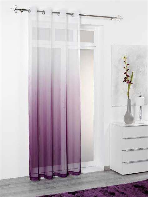 gardinen lila 214 senschal fertiggardine rainbow farbverlauf wei 223 lila
