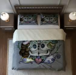 Skull Bedding Sets Skull Bedding Set Duvet Cover And Shams Gray Forever