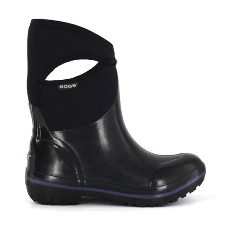 bogs shoes plimsoll black mid s insulated boots 71463