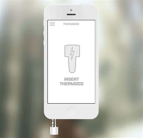 fan that plugs into phone checking temperatures on the go with thermodo ipixel