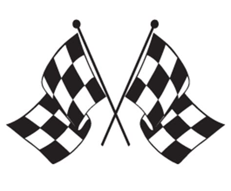 Race Track Wall Stickers checkered flag car decals dezign with a z