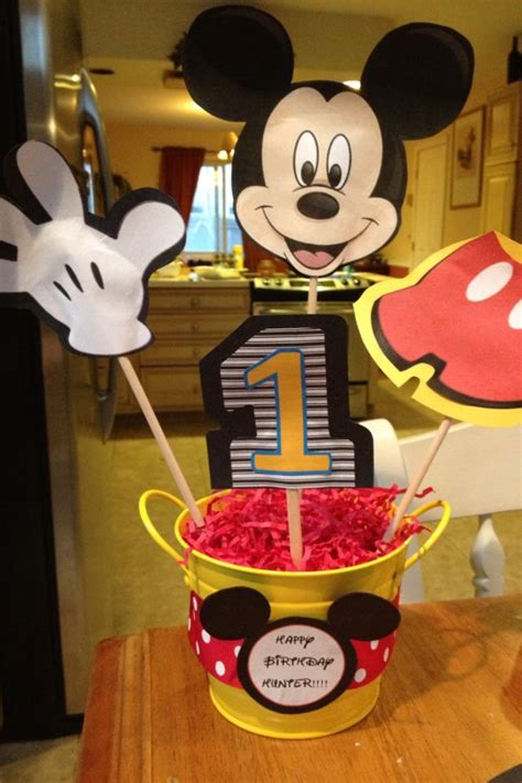 Mickey Mouse Birthday Decorations by Mickey Mouse Birthday Centerpieces