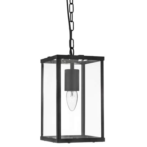 4241bk Rectangle Black Lantern Light Black Lantern Pendant Light