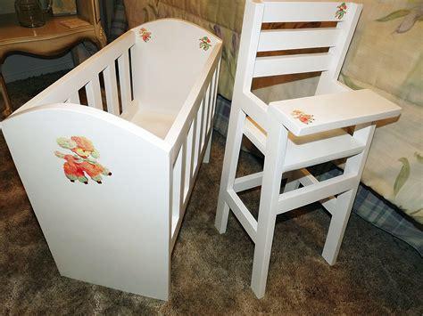 white s doll crib and high chair sets diy