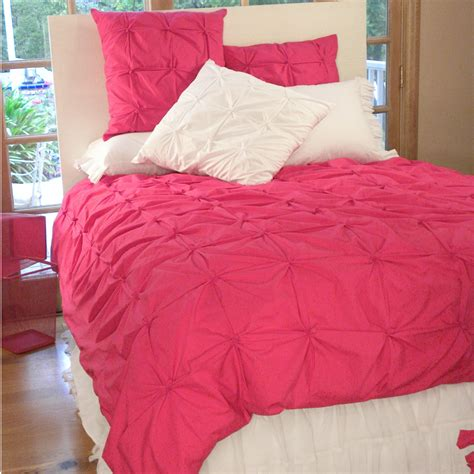 pink pin tucked duvet cover by davenport