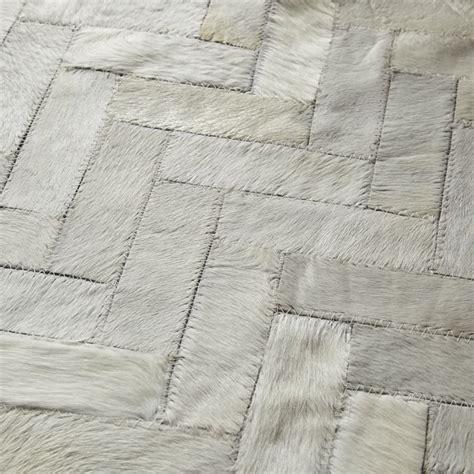 west elm cowhide rug chevron cowhide rug roselawnlutheran