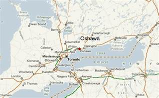 oshawa canada map oshawa location guide