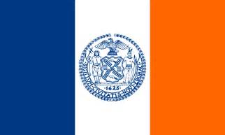 ny color flags of new york city