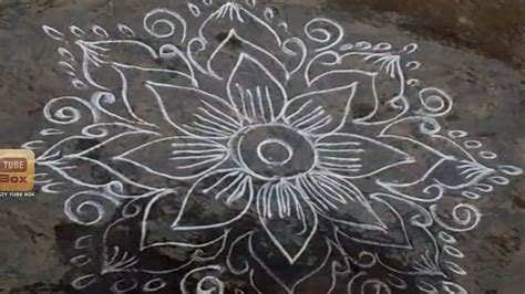 new design flower kolam with dots rangoli flower design kolam without dots flower kolam