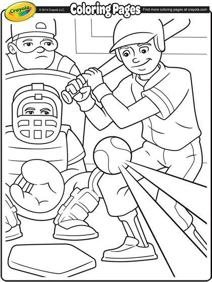 Crayola Coloring Pages Sports | baseball coloring page crayola com