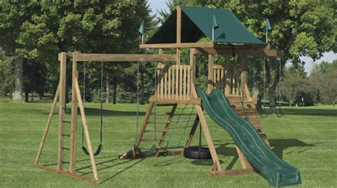 t frame swing set wood swing sets nj cedar swings playsets maryland