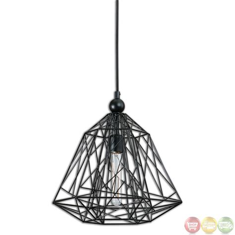 Uttermost Definition Paxton Industrial 1 Light Geometric Pendant 22020