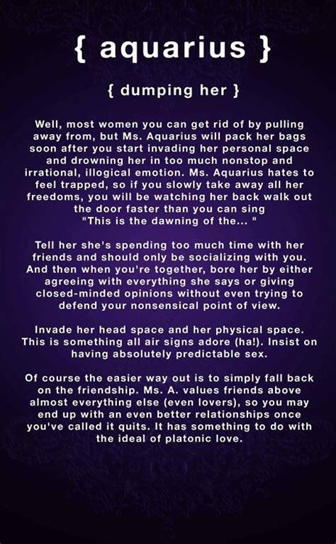 zodiac signs meanings aquarius dumping aquarius woman