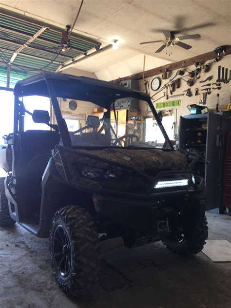 can am commander led light bar installed 17 quot light bar can am commander forum