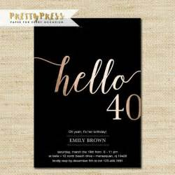 40th invitation templates 25 best ideas about 40th birthday invitations on