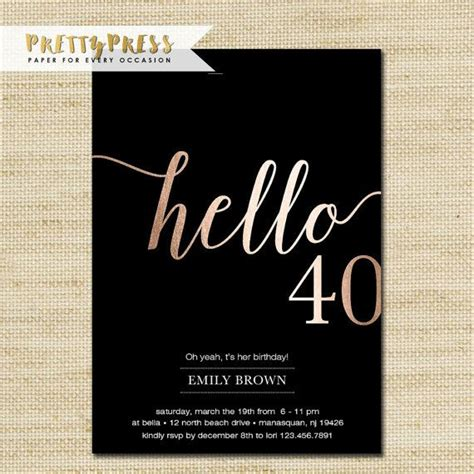 40th birthday invitation card 40th birthday invitation beneficialholdings info
