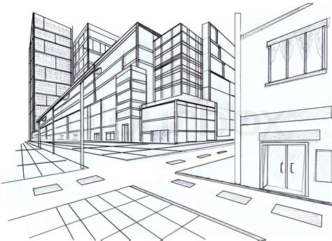 sketchup layout nedir zwei punkt perspektive stockfoto colourbox